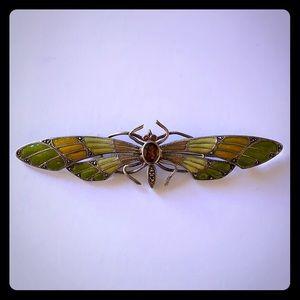 Sterling Silver 925 beautiful Enamel Butterfly Pin